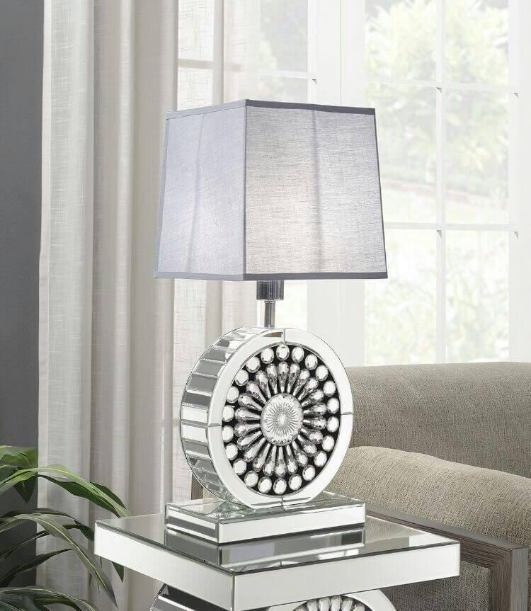 Crystal Lamp Grey