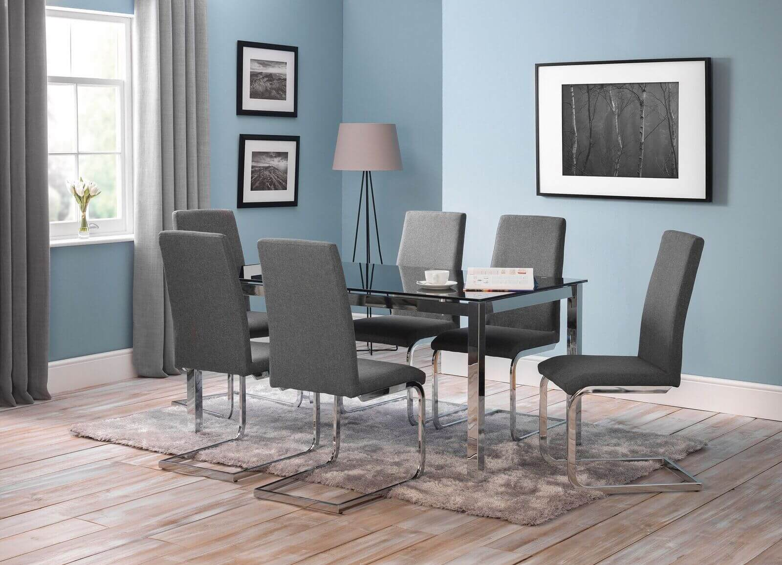 Tempo Dining Set (Table + 6 Roma Chairs)