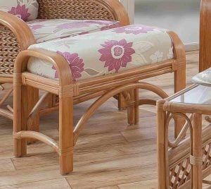 Upton Cane Footstool Natural