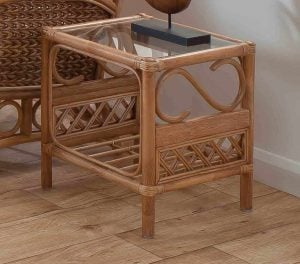 Upton Cane Side Table Natural