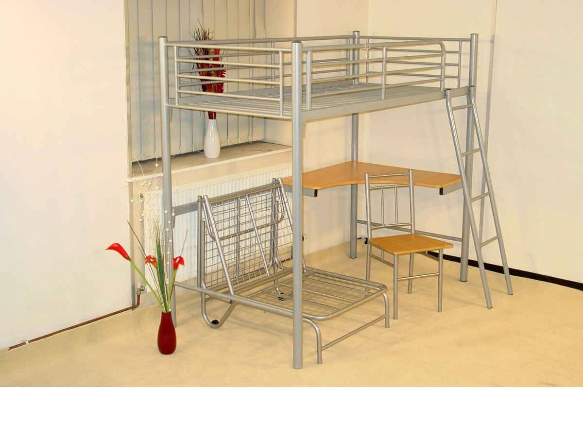 Study Bunk with Futon Chair
