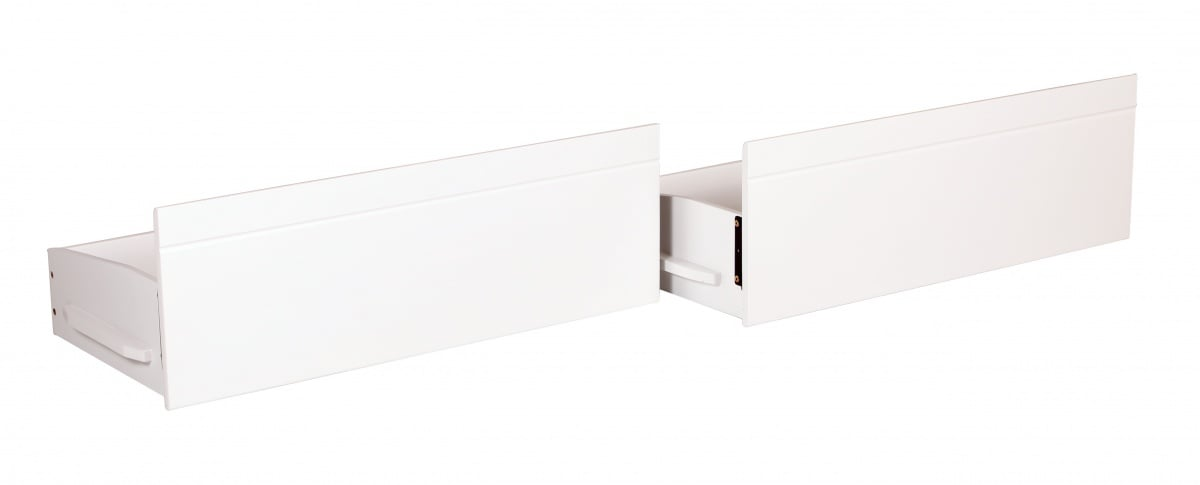 Tripoli Bunk White Underbed Drawers with Castors