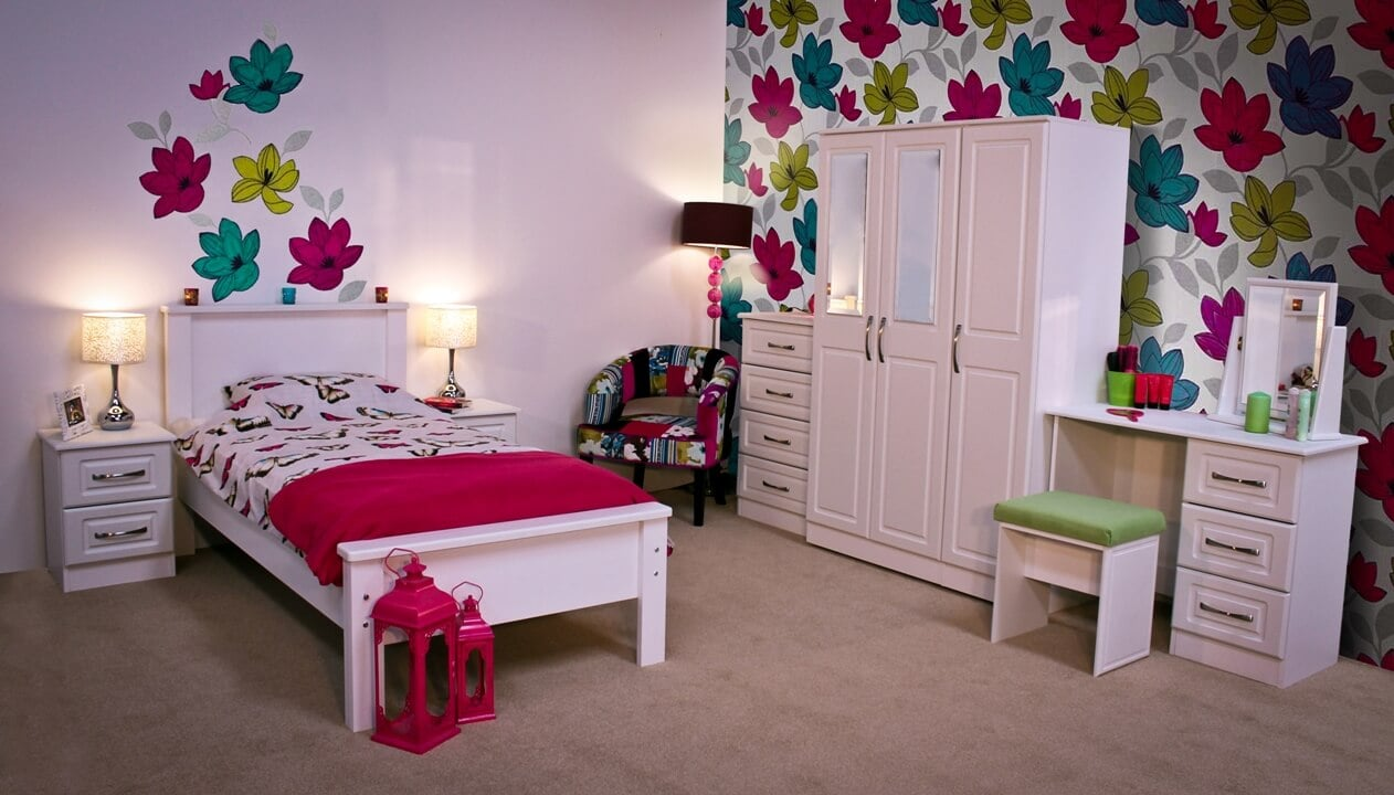Avoca White Single Bedroom Set