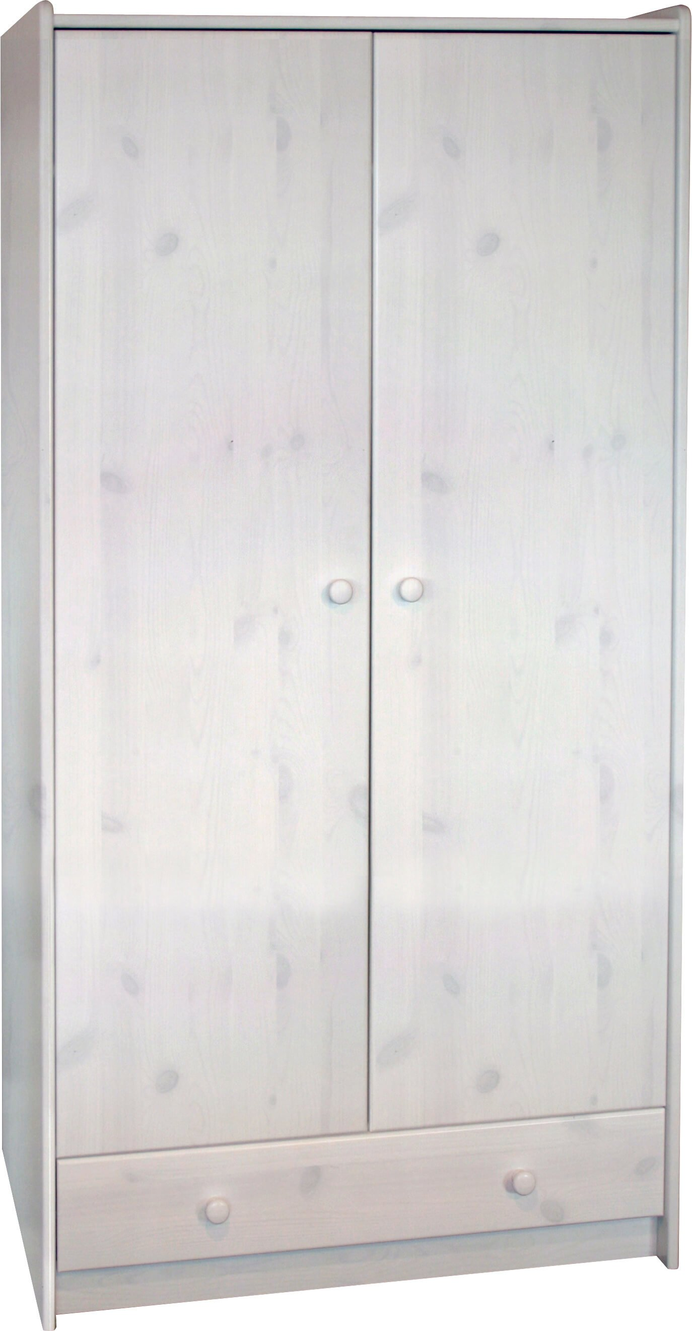 2 Door 1 Drawer Tall Wardrobe