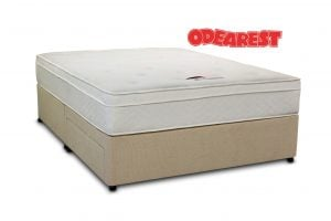 "Odearest 4'6"" Orchid Pocket Divan Bed"