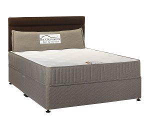 """Back Supporter Natural 4'6"""" Divan Bed"""