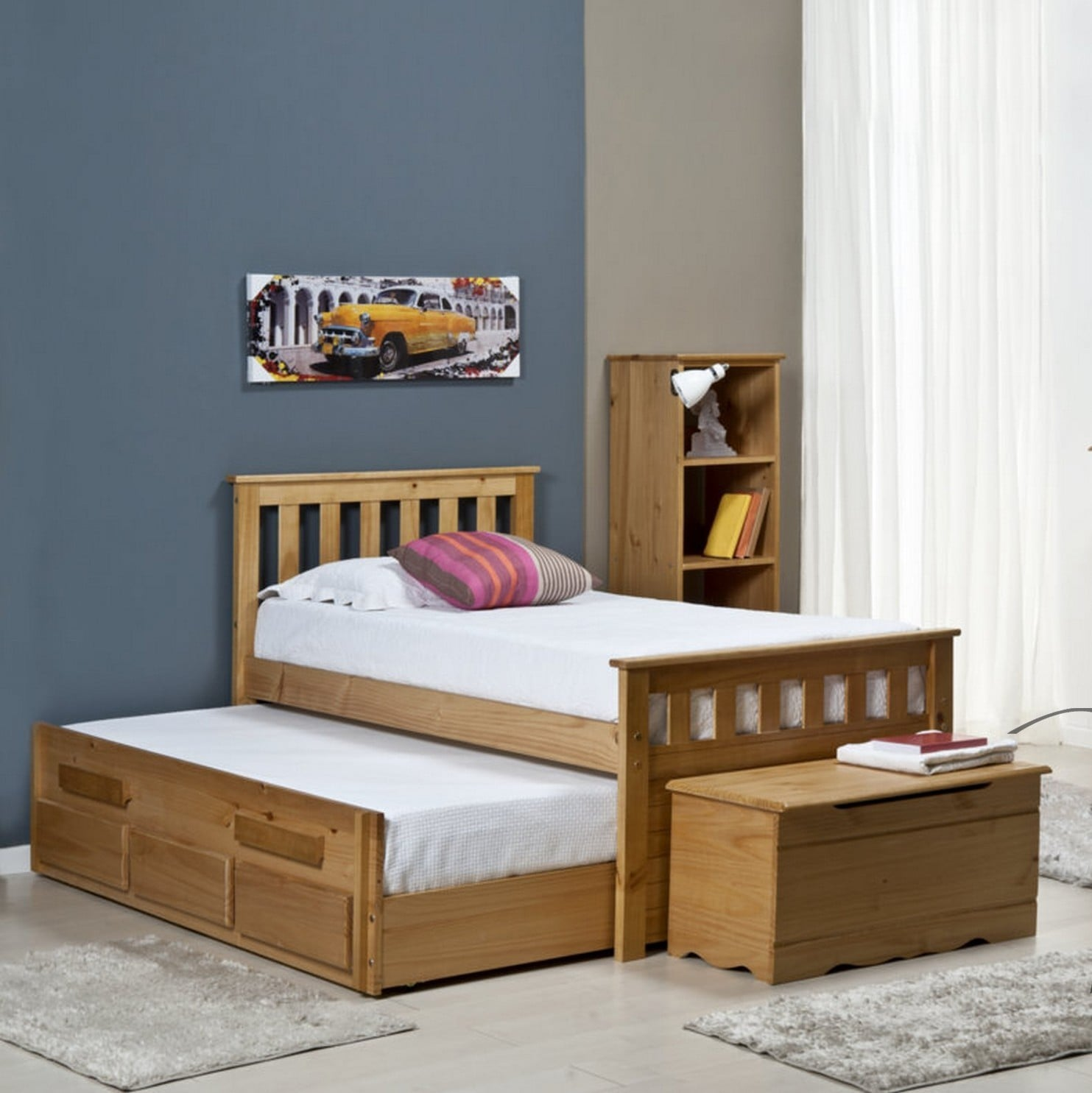 Bergamo Captains Guest Bed - Pine