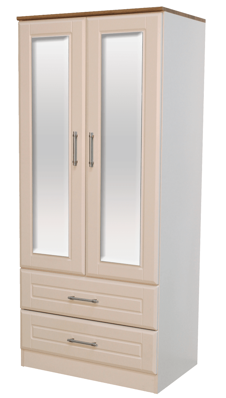 Blackwater 2 Door Wardrobe with Mirrors and Drawers