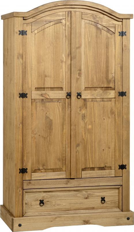 CORONA 2 DOOR 1 DRAWER WARDROBE CURVED TOP SAMPLE 1