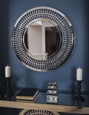 Crystal Round Mirror