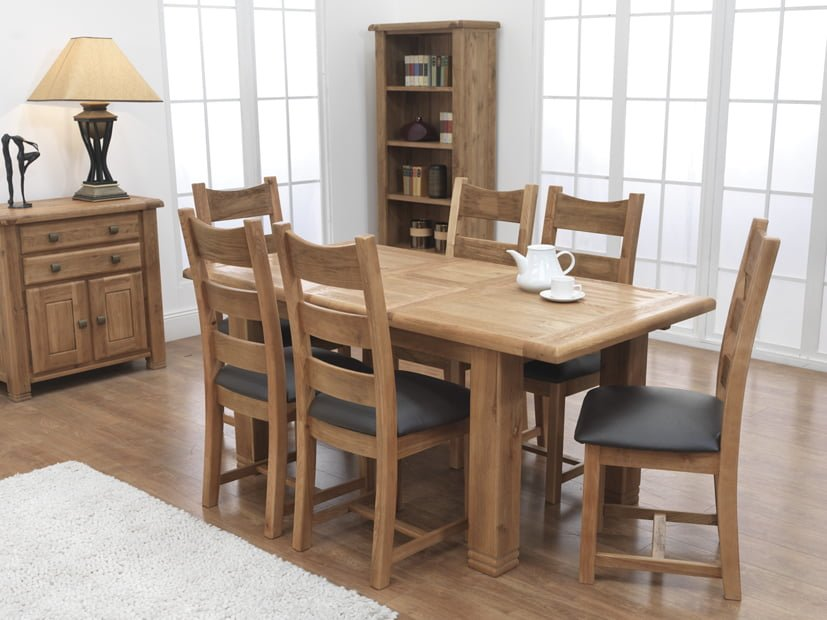 Danube Small Extending Table and 6 Danube Chairs
