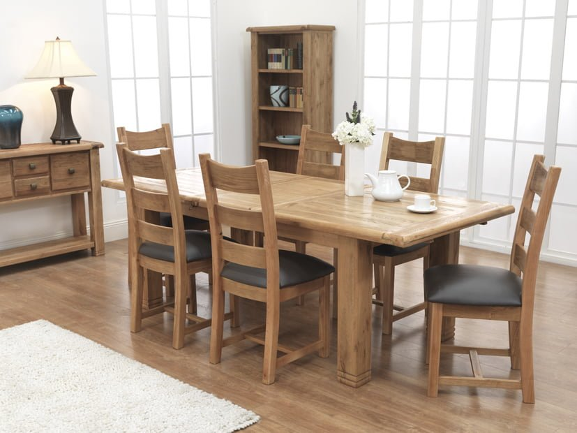 Danube Large Extending Table and 6 Danube Chairs