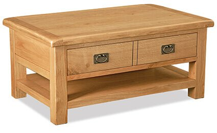 Salisbury Large Coffee Table with Drawer and Shelf