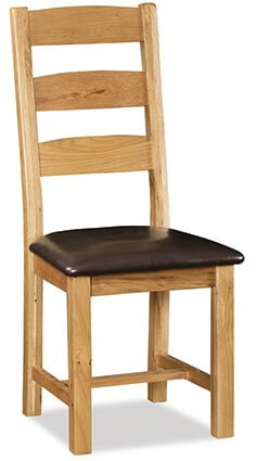 Salisbury Slatted Back Chair with PU Seat