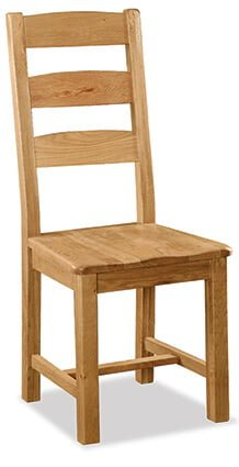 Salisbury Slatted Back Chair with wooden Seat