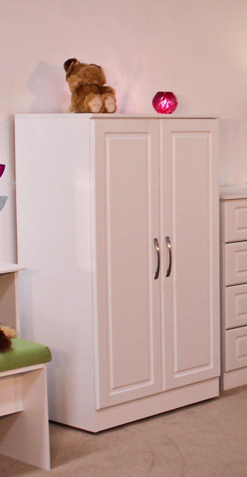 Avoca White 2 Door Kids Combi Wardrobe