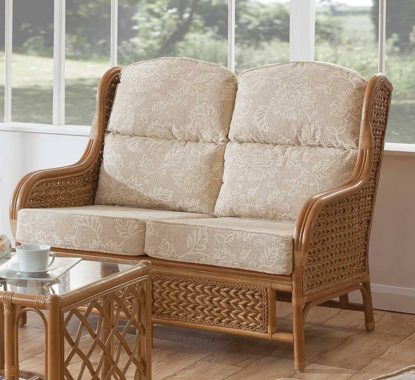 Mali 2 Seater Cane Sofa