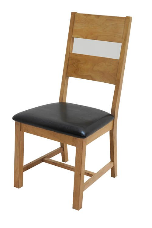Lissa Two Tone Wooden Seat Chair