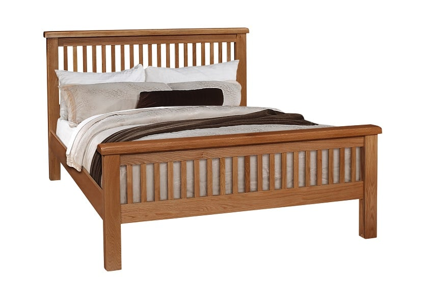 "Oscar 4'6"" Slatted Bed"