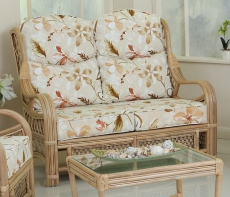 Quebec 2 Seater Cane Sofa