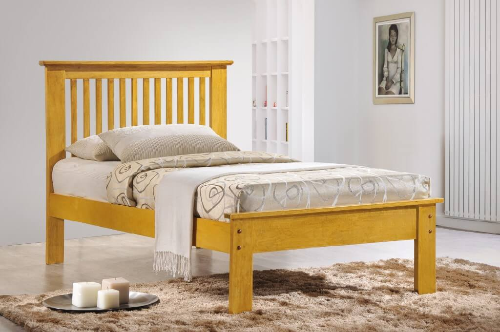 Roma Single Bed - Oak