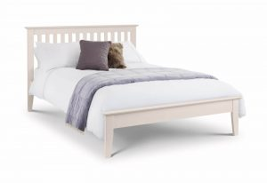 Salerno Stone White 4'6'' Bed