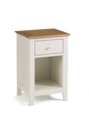 Salerno Two Tone Drawer Bedside