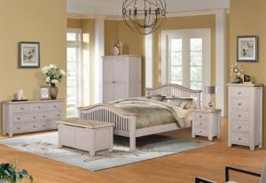 "Salou 4'6"" Slatted Bed Set"