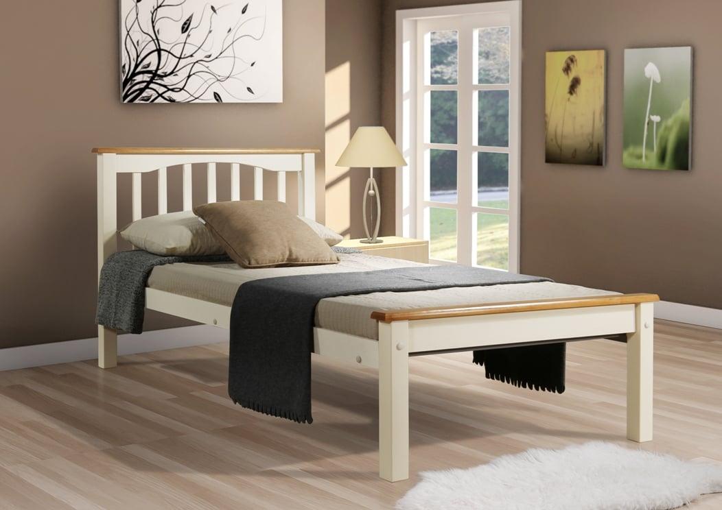 Sandra Single Bed - Cream/Beech