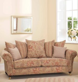 Three Seater Scatter Back Beige