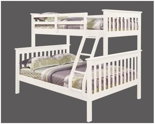 Buy Shaker White Triple Bunk In Kilkenny Treacy S Carpets And