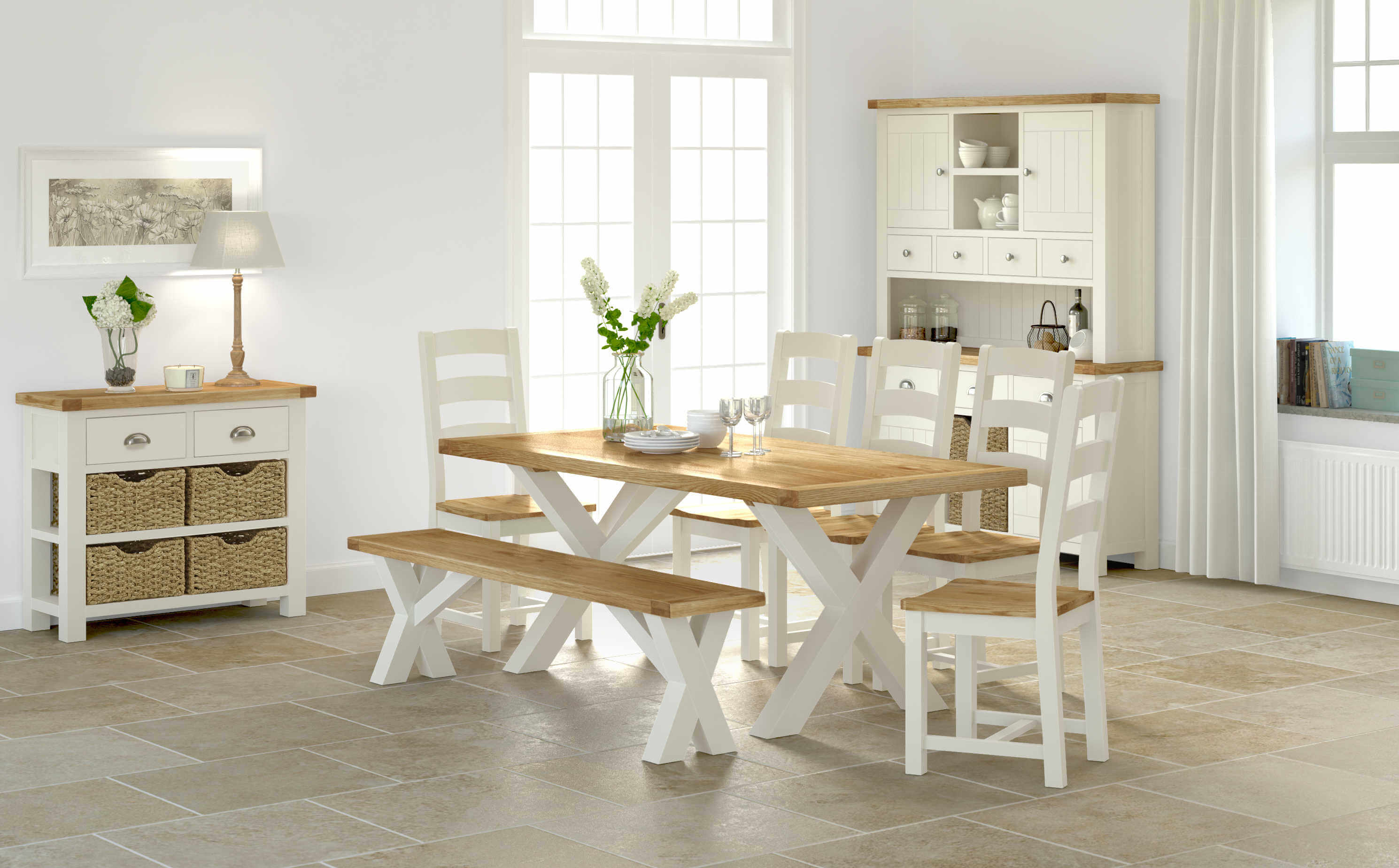 Suffolk Cross Leg Dining Set