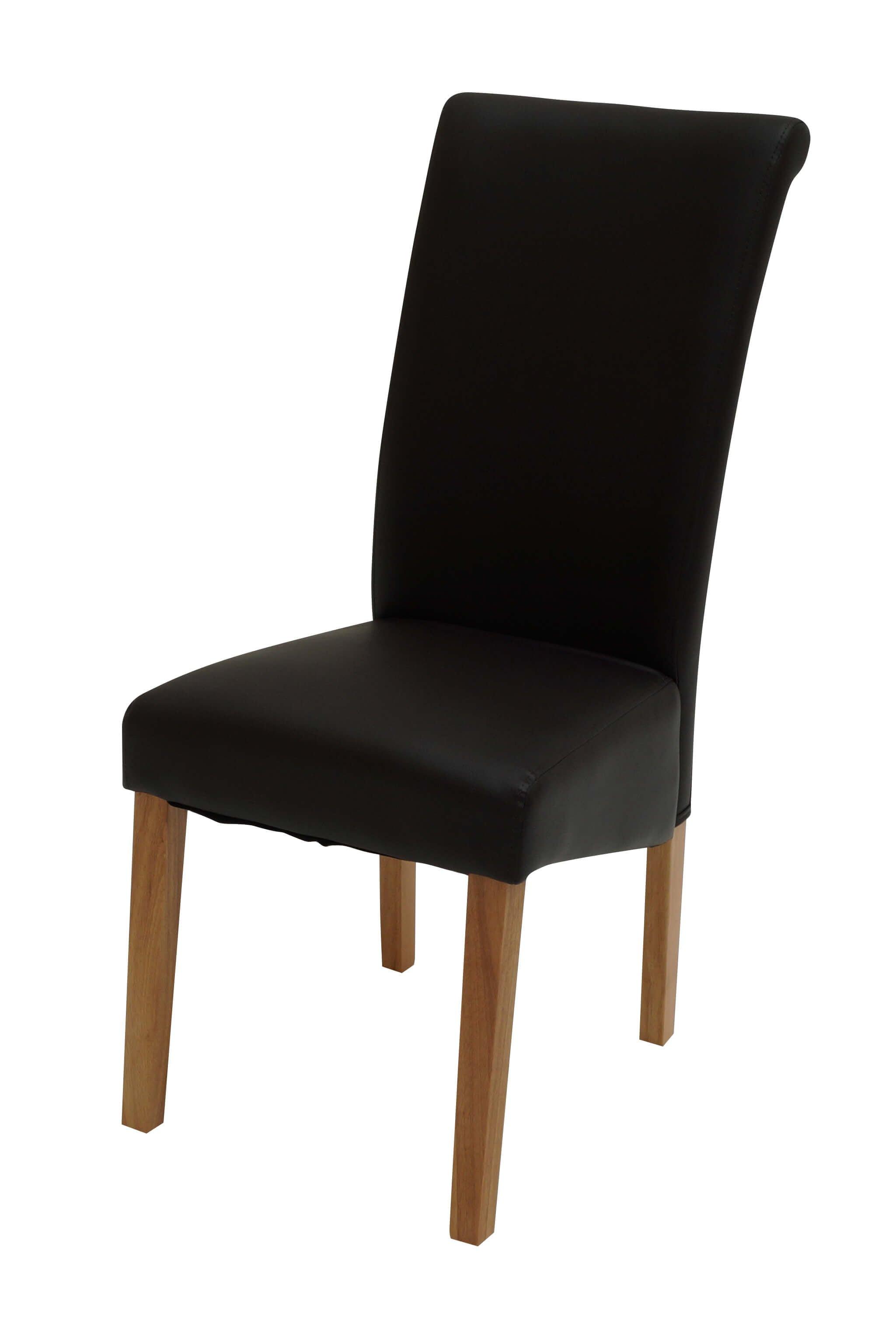 Sydney Walnut Leg Black Chair