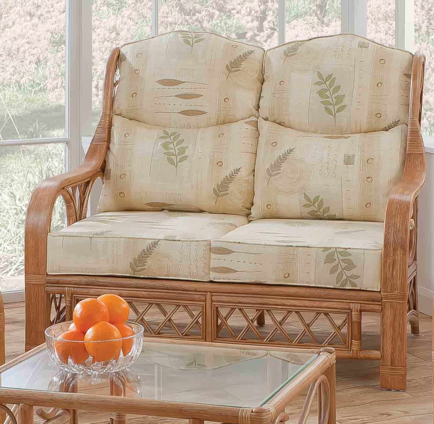 Tivoli 2 Seater Cane Sofa Natural