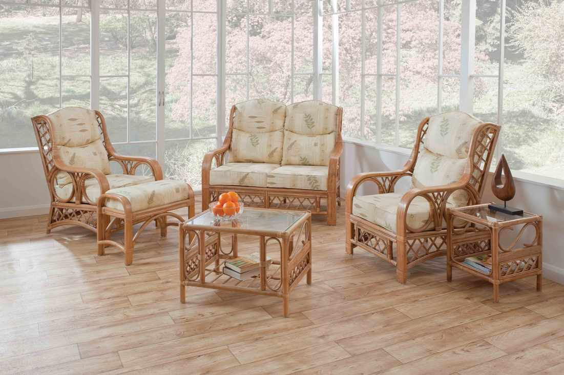 Tivoli Cane Suite in Natural Wash