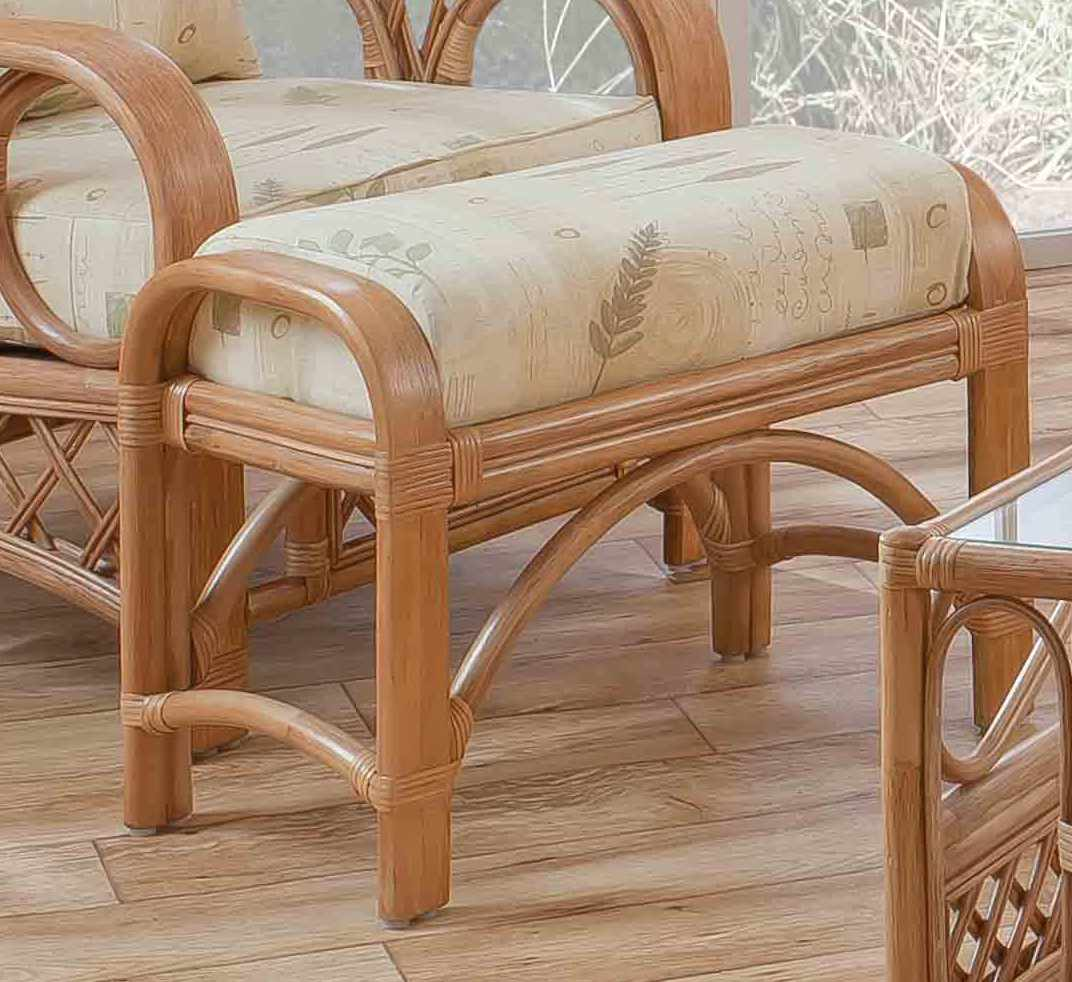 Tivoli Cane Footstool Natural