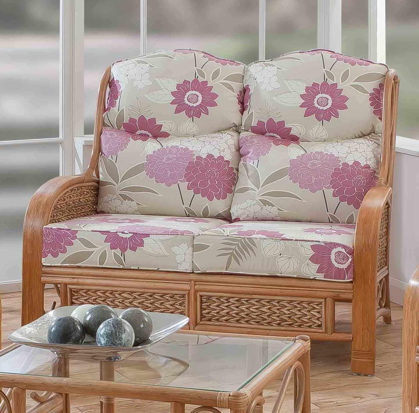 Upton 2 Seater Cane Sofa Natural