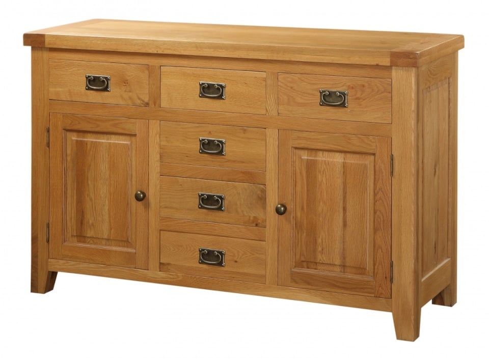 Acorn Large Sideboard with 2 doors and 6 drawers