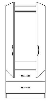 Bandon 2 Door Wardrobe with Drawers