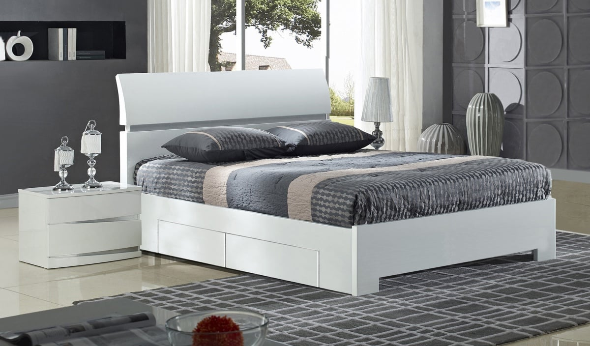 widney white bed