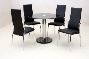 Alonza Black Dining Set