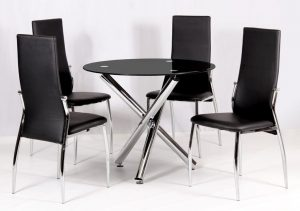 Calder Black Dining Set