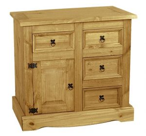 Corona Sideboard with 1 door and 4 drawers