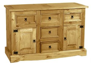 Corona Sideboard with 2 doors and 5 drawers