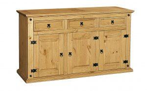 Corona Sideboard  with 3 doors and 3 drawers