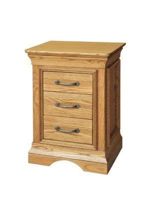 Calais 3 drawer bedside locker