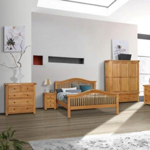 "Oscar 4'6"" Low End Bed Set"