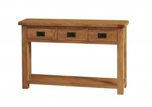 SRDT25 CONSOLE TABLE 3 DRAWER 01