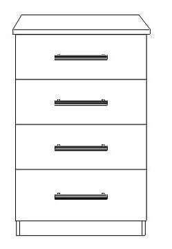 4 drawer narrow chest 1