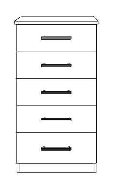 5 drawer narrow chest
